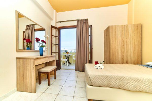 One Bedroom Quadruple Apartment living room and balcony