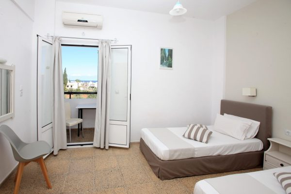 Superior Triple One Bedroom Apartment bedroom and balcony view