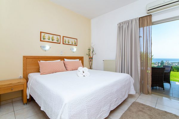 Luxury One Bedroom Apartments with Sea View bedroom with room view