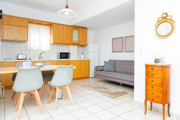 Family Two Bedroom Apartments with Sea View or Garden View Kitchenette and dining area
