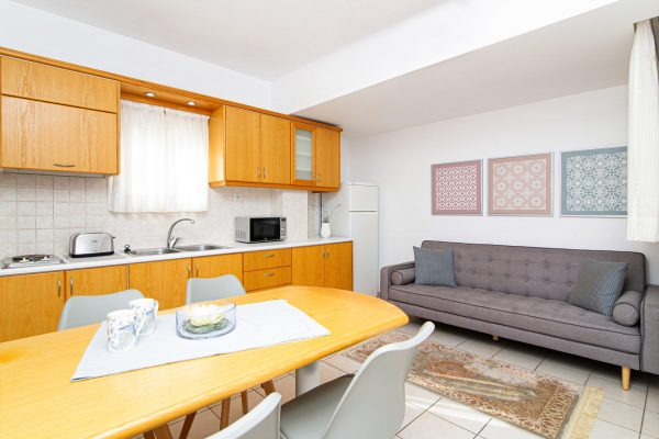 Family Two Bedroom Apartments with Sea View or Garden View living area and kitchenette