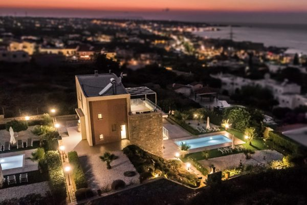 Villa Lavender aerial view