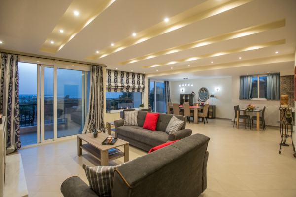 Living Room area and balcony view