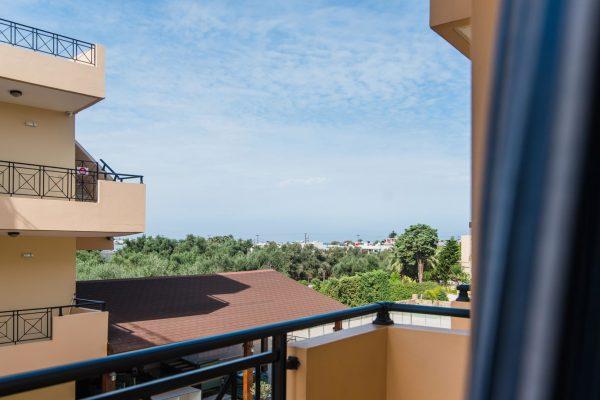 Standard Triple Studio balcony view