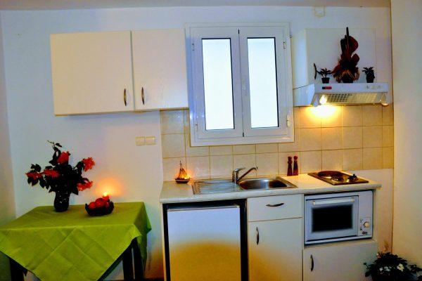 One Bedroom Quadruple Apartment Kitchenette